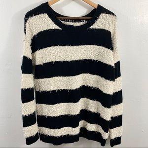 AMERICAN EAGLE Oversized Striped Sweater Sz SP EUC